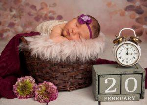 Schmeiser Barbara Fotografin - Newbornshooting mit Datum